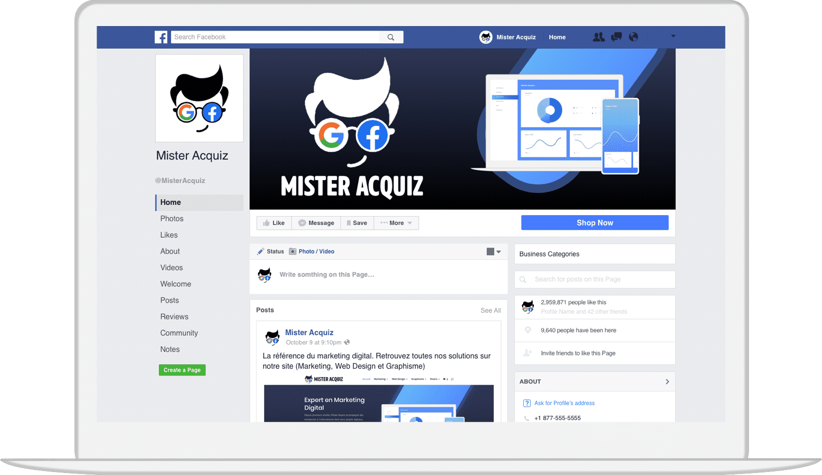 MisterAcquiz Community Management